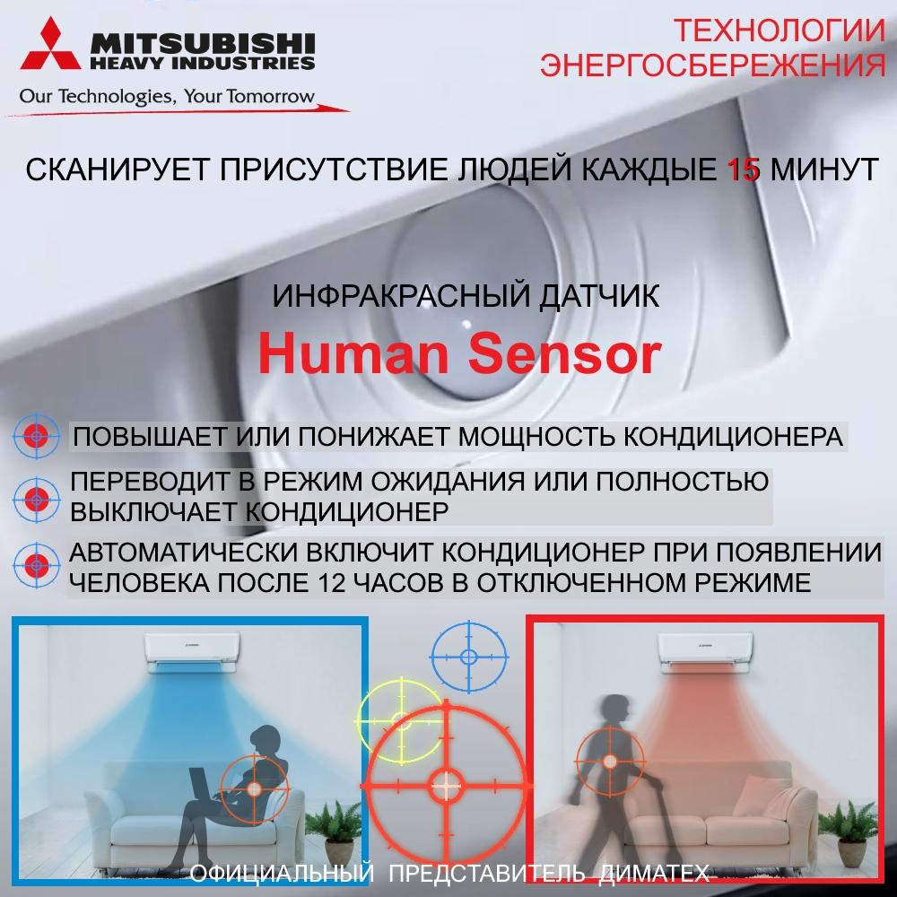 Кондиционеры Mitsubishi Heavy SRK-ZSX-W Human Sensor foto dimateh.com.ua